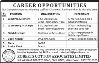 Career Opportunities Roberts Cotton Associates