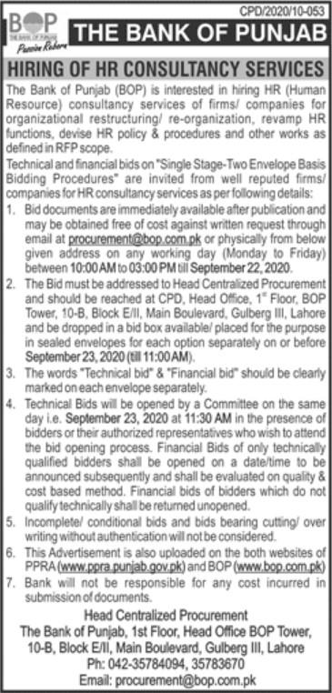 The Bank of Punjab Jobs