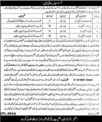 Jobs Opportunities in District Health Authority Gujrat