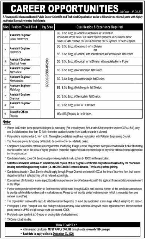 Assistant Engineer Required in Islamabad-Rawalpindi